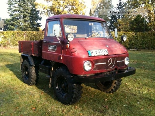 mercedes benz unimog u 411 1961 agricultural loader wagon photo and specs. Black Bedroom Furniture Sets. Home Design Ideas