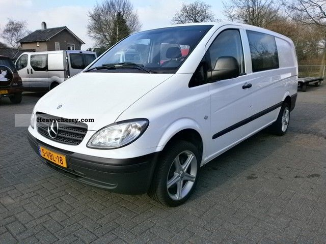 mercedes benz vito 115 cdi 5 seater air 112000km 2009 box type delivery van long photo and specs. Black Bedroom Furniture Sets. Home Design Ideas