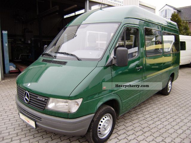 Mercedes benz sprinter 212 d high long combination 2 for 2 seater mercedes benz