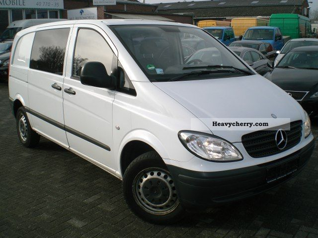 mercedes benz vito 111 mixto 5 seater air conditioned apc 2008 box type delivery van photo and specs. Black Bedroom Furniture Sets. Home Design Ideas