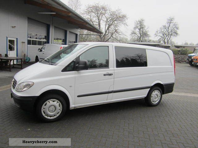 mercedes benz vito 115cdi mixto 5 seater long air navi 2007 box type delivery van long photo. Black Bedroom Furniture Sets. Home Design Ideas