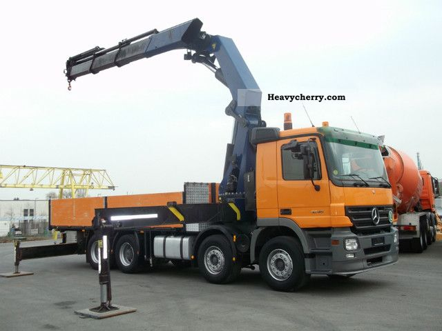 Truck mounted crane truck over commercial vehicles for Used mercedes benz trucks for sale in germany