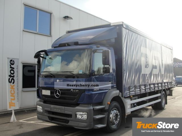 Mercedes benz axor 1824 curtainsider 2008 stake body and for 2008 mercedes benz truck