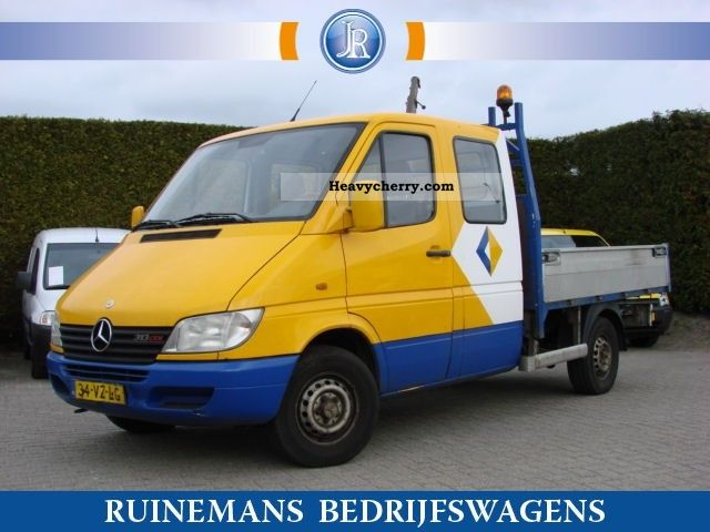2001 Mercedes-Benz  Sprinter 313 CDI PICK-UP DUB CAB + Kraan Van or truck up to 7.5t Stake body photo