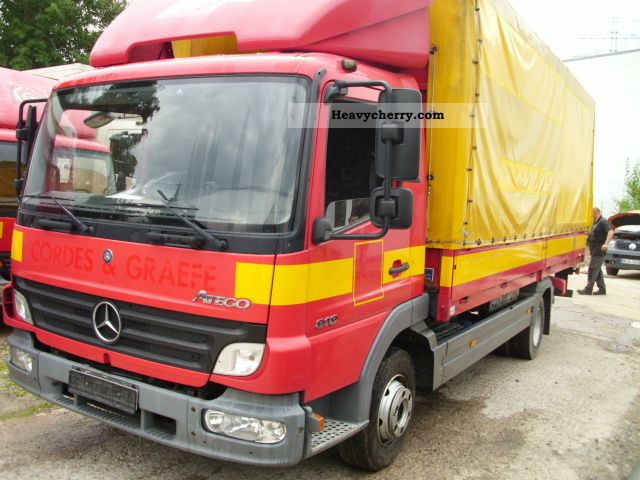 2005 Mercedes-Benz  Atego 818 II platform Van or truck up to 7.5t Stake body and tarpaulin photo