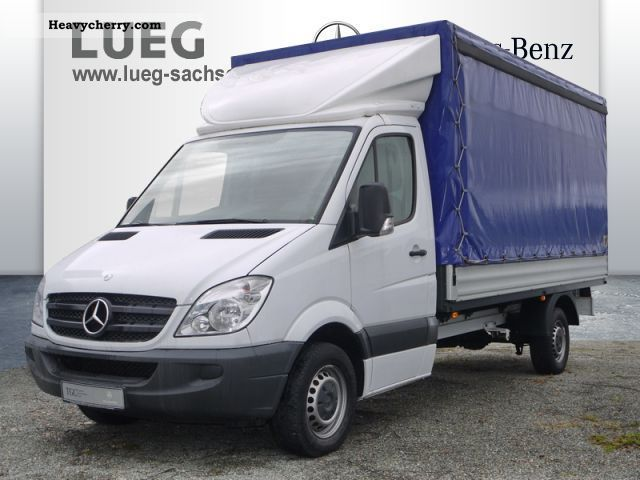 2009 Mercedes-Benz  Sprinter 313 CDI platform Plane towbar Van or truck up to 7.5t Stake body photo