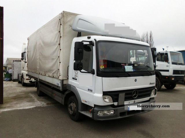2005 Mercedes-Benz  815 Atego, Pr.Pl., LBW, 3Seats, leaf / air Van or truck up to 7.5t Stake body and tarpaulin photo