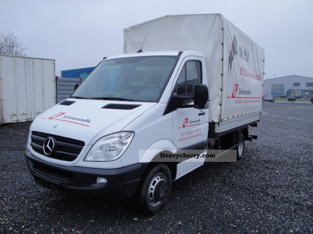 2009 Mercedes-Benz  511 CDI Sprinter / APC / liftgate Van or truck up to 7.5t Stake body and tarpaulin photo