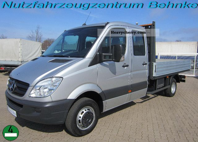 2008 Mercedes-Benz  Sprinter 515 CDI Doka / Maxi Flatbed Van or truck up to 7.5t Stake body photo