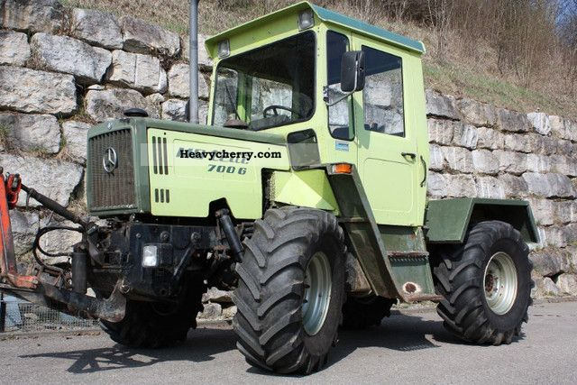 mercedes benz mb trac 700 g 1985 agricultural tractor. Black Bedroom Furniture Sets. Home Design Ideas