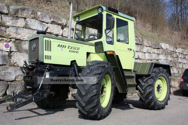 1987 Mercedes-Benz  MB TRAC 1100 Agricultural vehicle Tractor photo