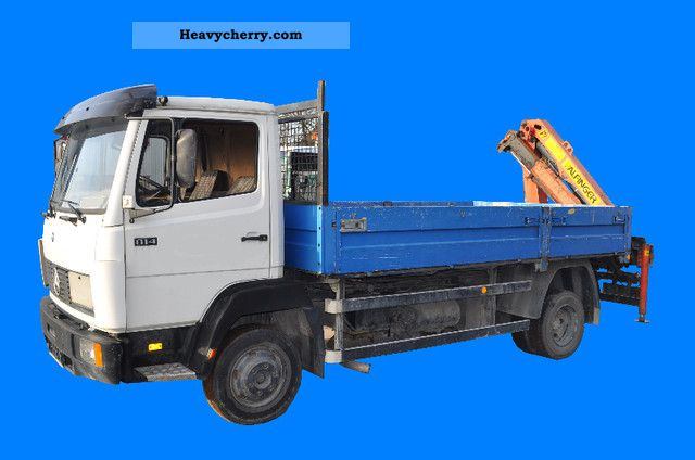 1991 Mercedes-Benz  Palfinger loading crane PK 52 004 814 Van or truck up to 7.5t Stake body photo