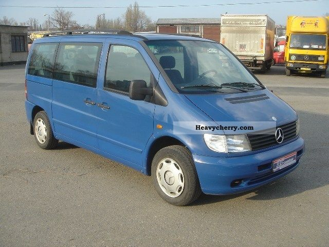 mercedes benz vito 112 cdi 9 seats air bus 2000 estate minibus up to 9 seats truck photo and. Black Bedroom Furniture Sets. Home Design Ideas
