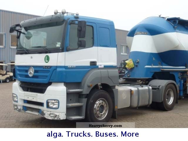 Semi Tractor Air Lines : Mercedes benz  axor compressor air