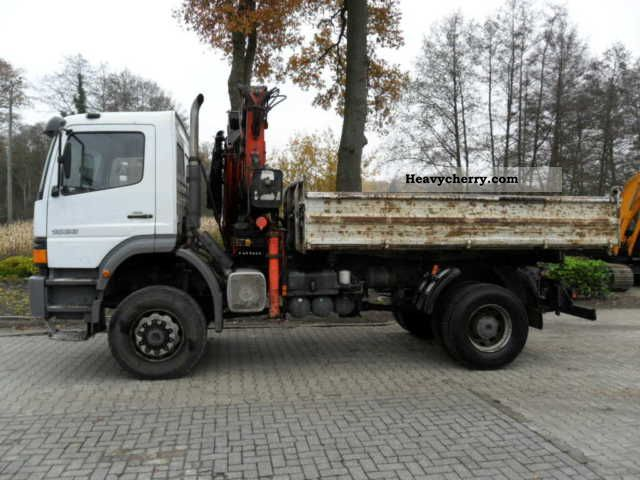 1999 Mercedes-Benz  Atego 1823 tipper wheel Truck over 7.5t Truck-mounted crane photo