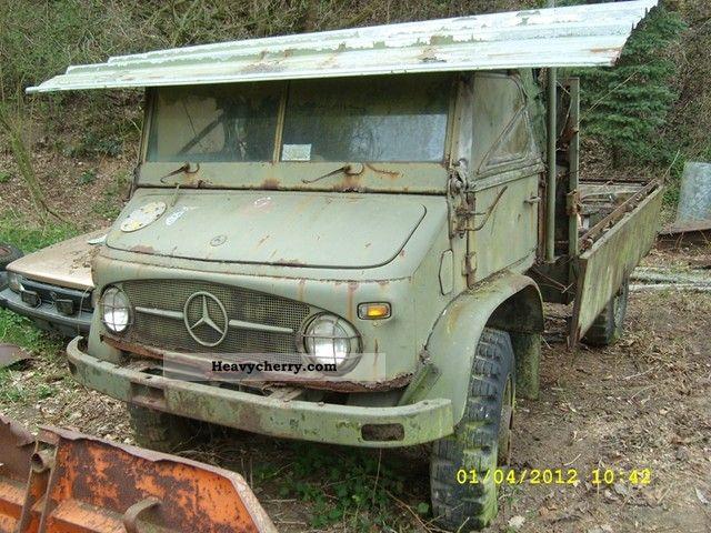 MercedesBenz Unimog 404 S Convertible 1961 Stake body Truck Photo