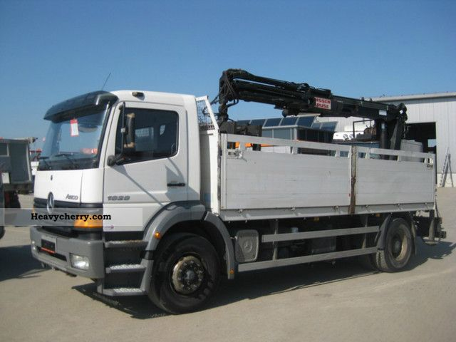 2001 Mercedes-Benz  1828 4x2, Atlas AK 125.1, leaf / air Truck over 7.5t Truck-mounted crane photo