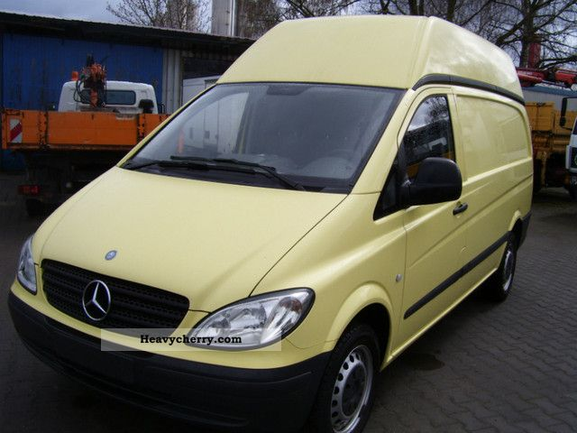 mercedes benz vito 109 cdi high roof 2006 box type delivery van high photo and specs. Black Bedroom Furniture Sets. Home Design Ideas