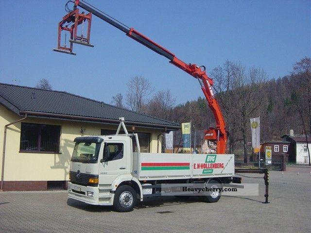 2000 Mercedes-Benz  1823 ATEGO PRITSCHE * + * MKG HLK 125 CRANE Truck over 7.5t Truck-mounted crane photo
