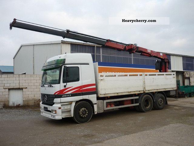 2000 Mercedes-Benz  Actros 2543 - HMF 1900 crane Truck over 7.5t Truck-mounted crane photo