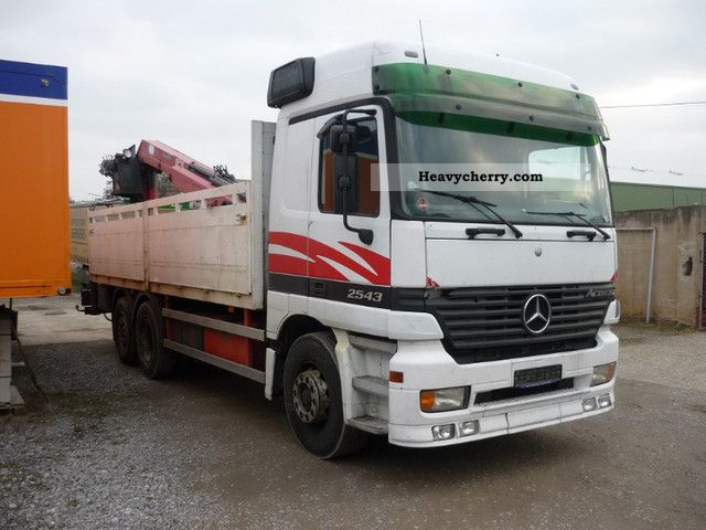 Mercedes benz actros 2543 hmf 1900 crane 2000 truck for Mercedes benz 1900 model