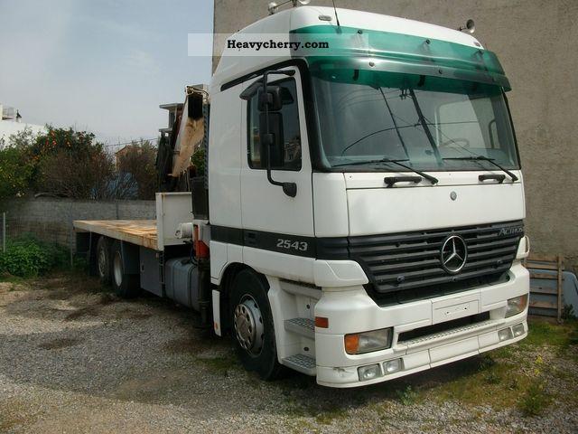 1999 Mercedes-Benz  Actros 2543 Truck over 7.5t Truck-mounted crane photo