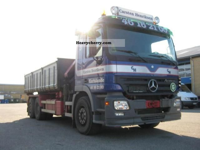 2006 Mercedes-Benz  Actros II, 2544 GL Truck over 7.5t Truck-mounted crane photo