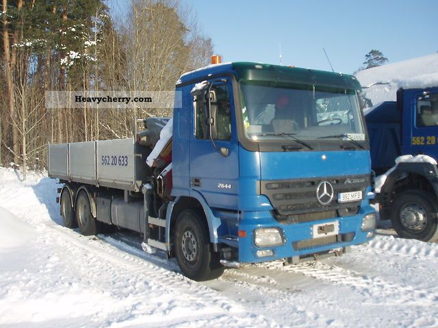 2005 Mercedes-Benz  2644L 6x4 Actros MPII Truck over 7.5t Truck-mounted crane photo