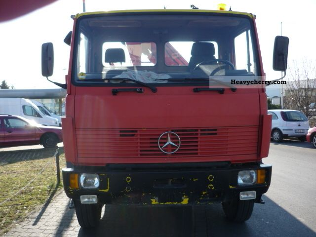 1992 Mercedes-Benz  1117 A 4x4 * PLATFORMS * CRANE * WHEEL * 4x4 Truck over 7.5t Truck-mounted crane photo