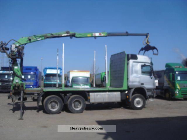 Mercedes Benz Actros 3354 6x6 V8 14er Penz Crane With Grab 2005 Timber Carrier Truck Photo And Specs