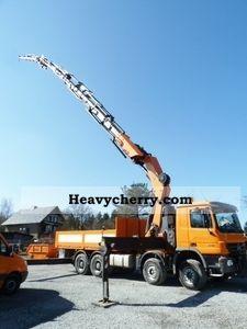 2008 Mercedes-Benz  4148 8x4 (E5 + G1) + 8x4 crane Palfinger PK 100002 + J Truck over 7.5t Truck-mounted crane photo