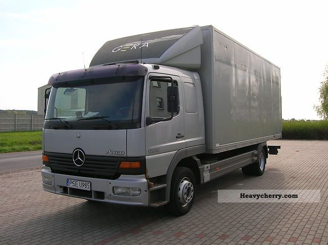 Toyota Forklift Manual Mercedes-Benz Atego 1223 1998 Box Truck Photo and Specs