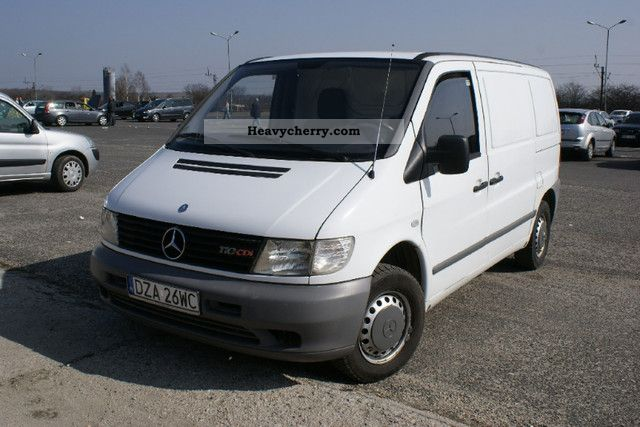 mercedes benz vito 2 2 cdi 110 air 2002 box type delivery van photo and specs. Black Bedroom Furniture Sets. Home Design Ideas