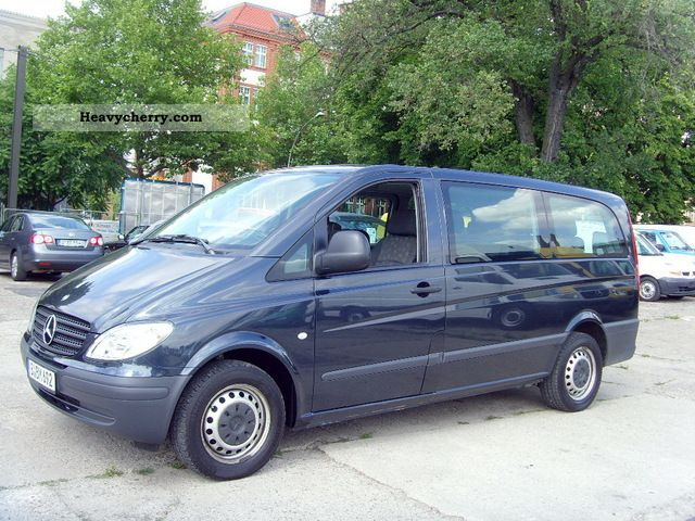 mercedes benz vito 111 cdi long 9 seater climate 4 2006 clubbus photo and specs. Black Bedroom Furniture Sets. Home Design Ideas