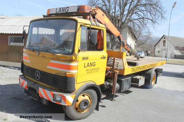1988 Mercedes-Benz  1013 Isoli Schiebeplateau crane Hubbrille Truck over 7.5t Breakdown truck photo