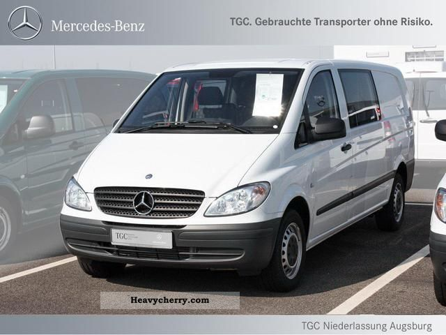 Mercedes benz vito 111 mixto truck approved 6 seater 2010 for Mercedes benz seven seater