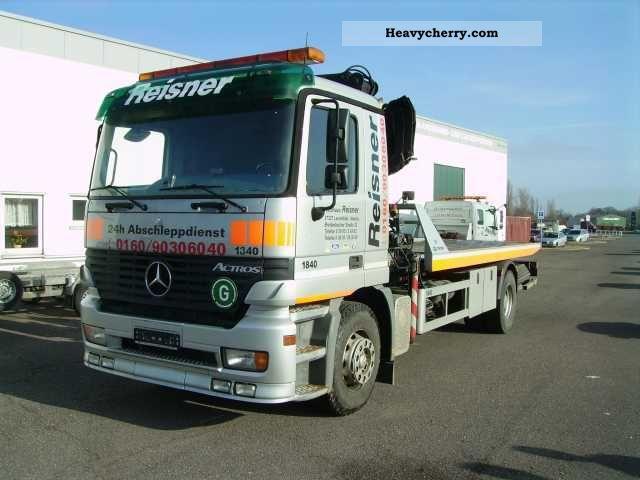1998 Mercedes-Benz  Tow truck Actros 1840 Truck over 7.5t Breakdown truck photo