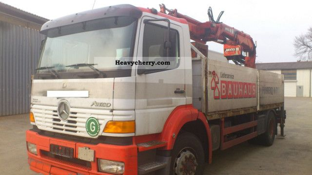 2000 Mercedes-Benz  1823 L building body + rear loading crane Truck over 7.5t Stake body photo