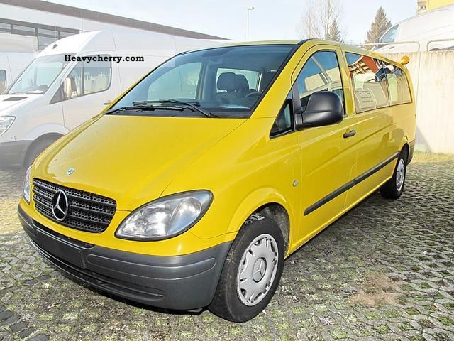 mercedes benz vito 115 cdi combi 9 seater 2007 estate minibus up to 9 seats truck photo and specs. Black Bedroom Furniture Sets. Home Design Ideas