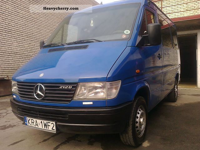 1998 Mercedes-Benz  Sprinter 212 D BUS / CIĘŻAROWY! Van or truck up to 7.5t Estate - minibus up to 9 seats photo