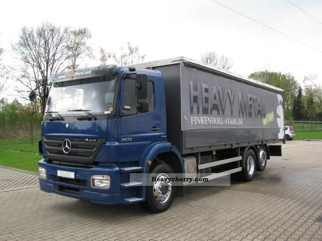 2007 Mercedes-Benz  Axor 2533 L Curtainsider climate Truck over 7.5t Stake body and tarpaulin photo