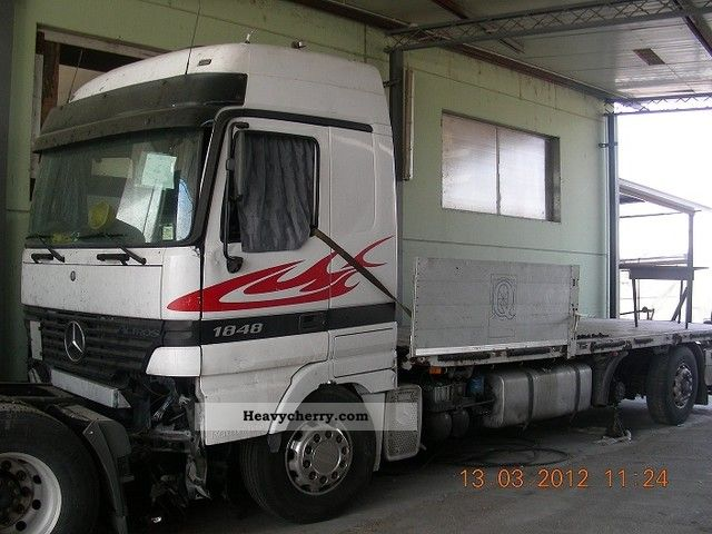 2001 Mercedes-Benz  1848 L - V8 - ACCIDENT!! (YEAR * 2001 *) 6x2 Truck over 7.5t Stake body photo