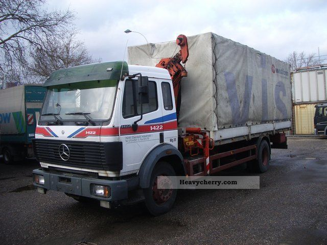 1992 Mercedes-Benz  1422 L with Palfinger PK 8000 / 1.5 cab Truck over 7.5t Stake body photo
