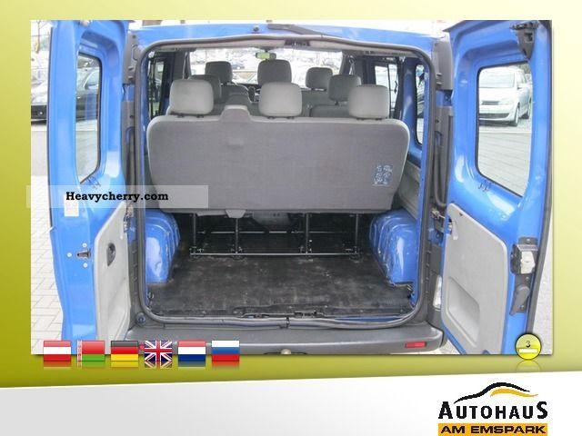 opel vivaro 2 5 dti combi l2h1 air conditioning trailer hitch 8 seater 2003 estate minibus. Black Bedroom Furniture Sets. Home Design Ideas
