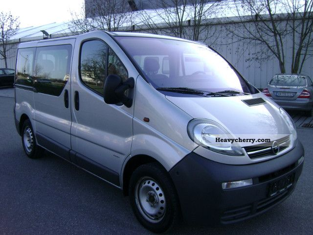 opel vivaro 1 9 cdti air 9 seater euro 3 2006 estate minibus up to 9 seats truck photo. Black Bedroom Furniture Sets. Home Design Ideas