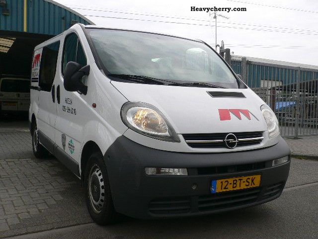 opel vivaro 1 9 cdti 100ps truck 2005 box type delivery van photo and specs. Black Bedroom Furniture Sets. Home Design Ideas