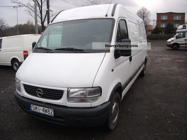 2002 Opel  Movano Van or truck up to 7.5t Other vans/trucks up to 7 photo