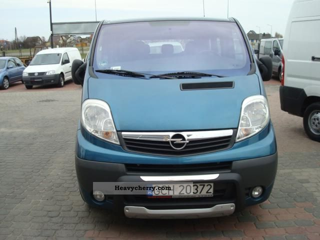 opel vivaro 2 0 westfalia l multivan 2007 box type delivery van photo and specs. Black Bedroom Furniture Sets. Home Design Ideas
