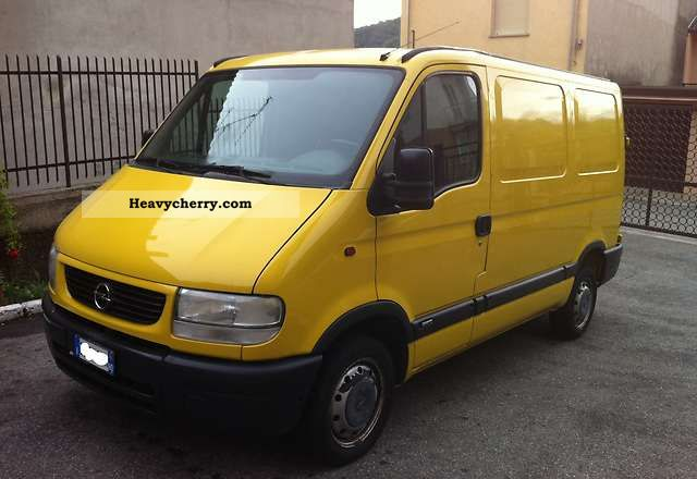 opel movano 2 5d 2001 box truck photo and specs. Black Bedroom Furniture Sets. Home Design Ideas