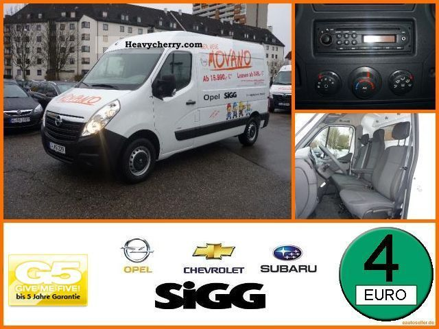 2011 Opel  B Movano 2.3 CDTI Van L2H2 3.5t aircon Van or truck up to 7.5t Box-type delivery van photo